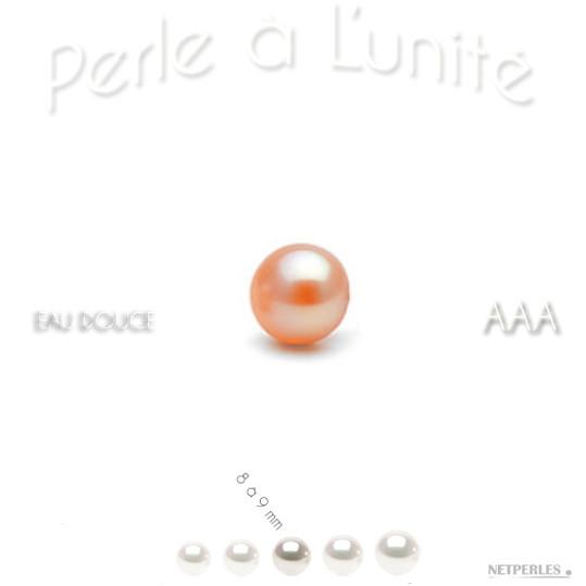 Perle de culture d'eau douce peche de 8 à 8 mm qualité AAA bien ronde
