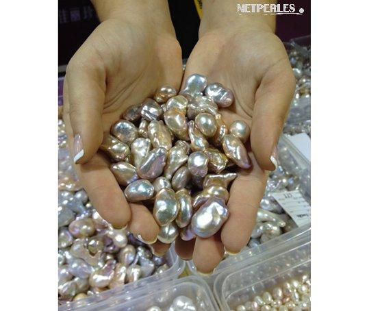 Les magnifiques perles Soufflées d'Eau Douce