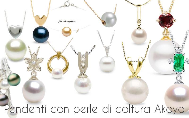 Pendenti con perle di coltura Akoya: bianche, nere o dorate!