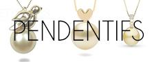 Pendentif avec perles dorées