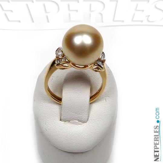 Bague Cecile Or 18k et perle d'Australie