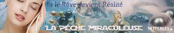 Pêche miraculeuse NETPERLES, promotion de bijoux en perles de culture