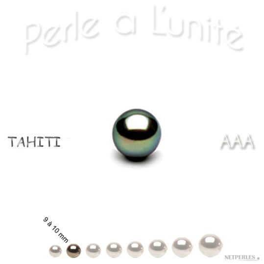 Perle de culture de Tahiti de 9 à 10 mm qualité AAA