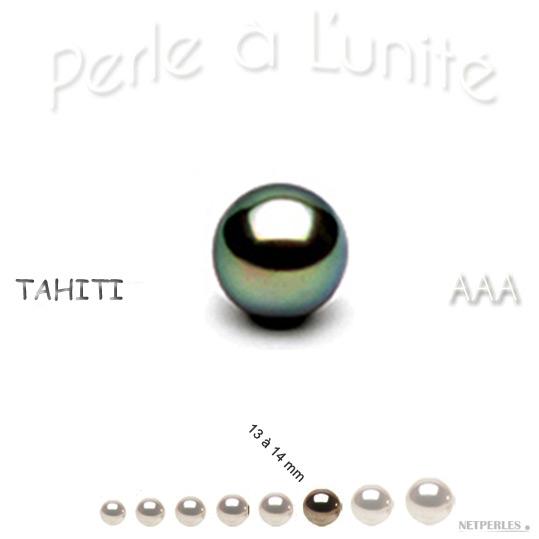 Perle de culture de Tahiti de 13 à 14 mm qualité AAA