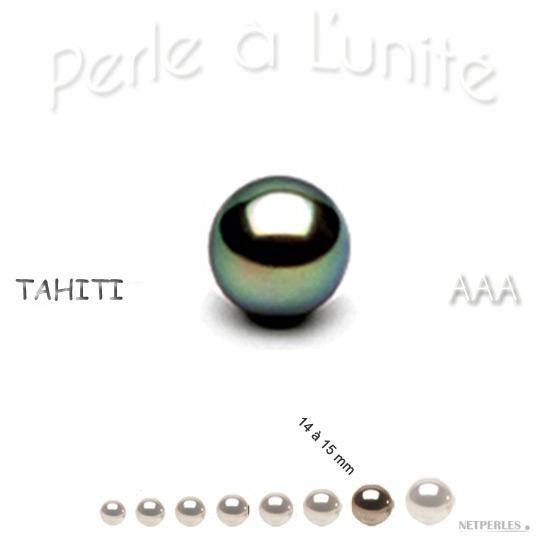 Perle de culture de Tahiti de 14 à 15 mm qualité AAA