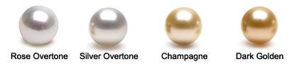 Couleurs des perles d'Australie