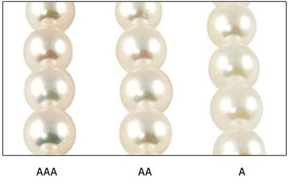 Qualité des perles d'Akoya
