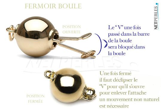 Fermoir rond lisse en Or 14 ou 18 carats, disponible en or jaune ou en or gris