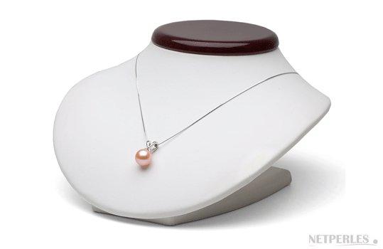 Pendentif Ruban avec perle d'eau douce