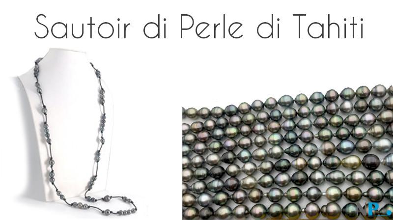 Sautoir di perle di Tahiti - Collane di qualsiasi lunghezza desideriate!