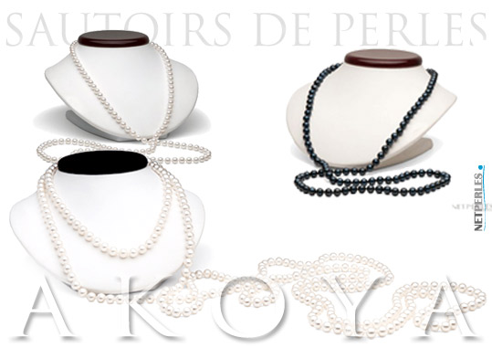 Sautoirs de perles akloya