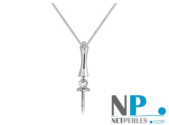 Appretto da gioielleria: beliera per pendente con perla di coltura (perla non inclusa)