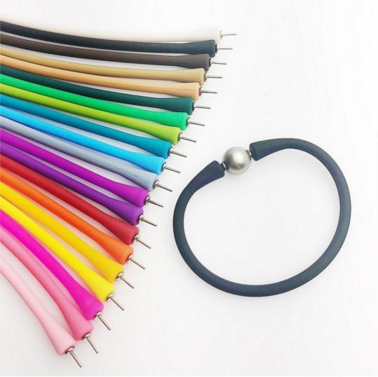 Bracelet en silicone avec perle d'eau douce blanche