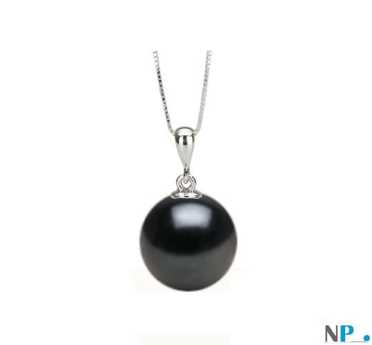 Pendentif Swing en Argent 925 présenté avec une perle noire
