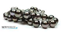 Bijou de luxe, collier de vraies perles de tahiti