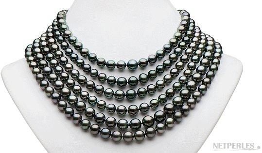 Collier 6 rangs de perles de Tahiti