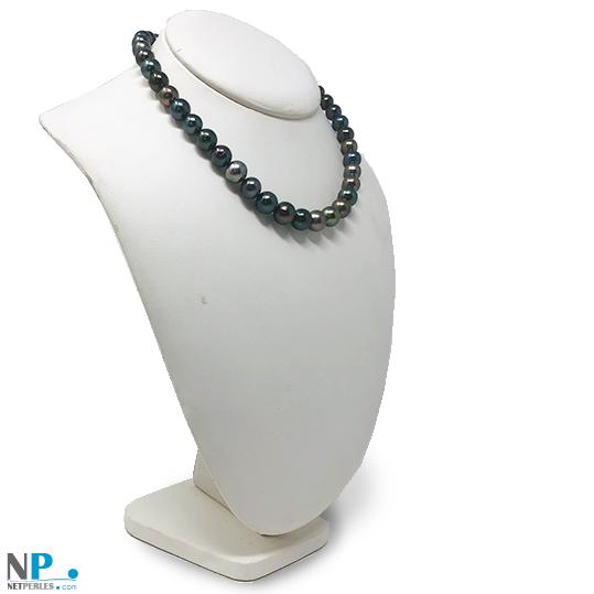 Collier de perles de tahiti de 8 à 11 mm longueur 43 à 44 cm