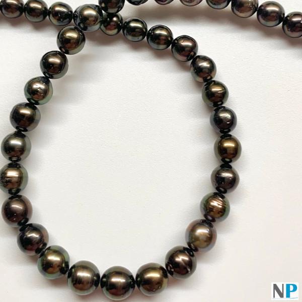 Collana di perle nere di Tahiti