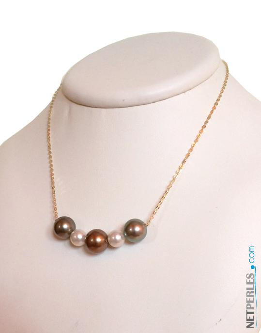 pendentif de perles de tahiti et perles Akoya