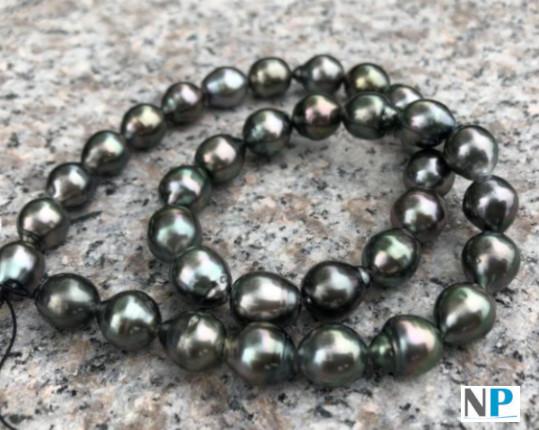 Collier 43 cm perles de Tahiti Baroques