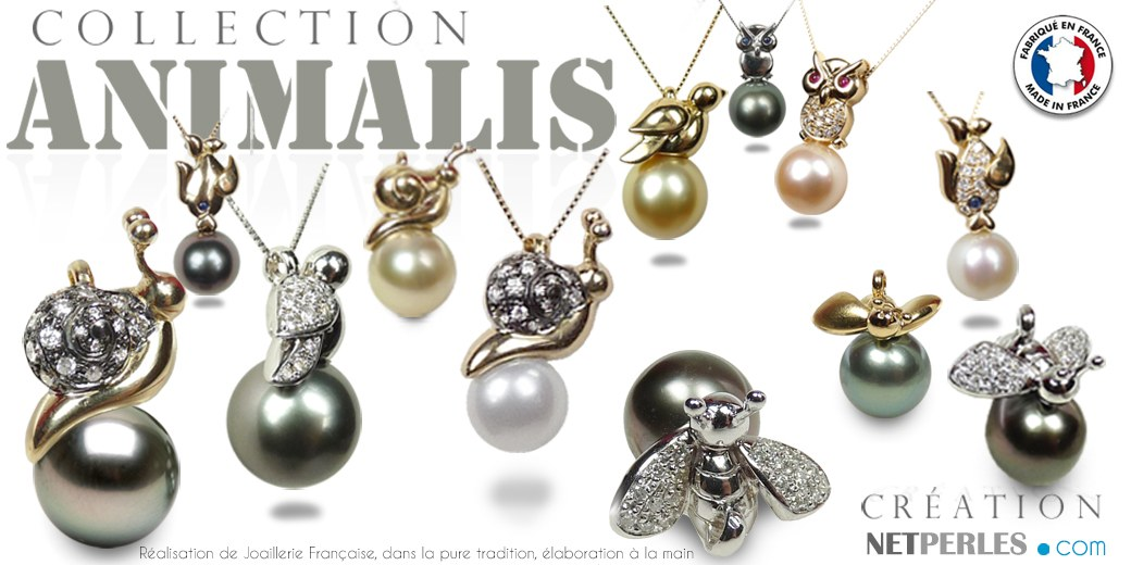 Collection Or Animaux et perles