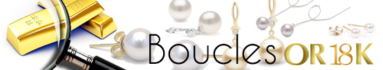 BOUCLES EN OR 18 CARATS ET PERLES DE CULTURE