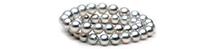 Collana di perle bianche australiane - perle luminose, autentiche perle prodotte da ostriche - allevamenti perliferi - grande chic