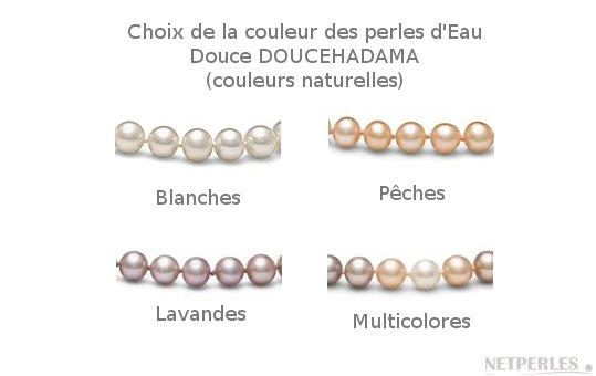 Couleur de rangs de perles d'eau douce DOUCEHADAMA