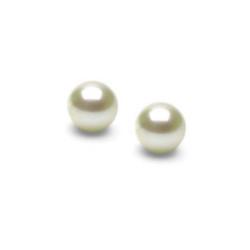Paire de Perles d'Akoya blanches petit diamètre 4,5-5,0 mm AAA
