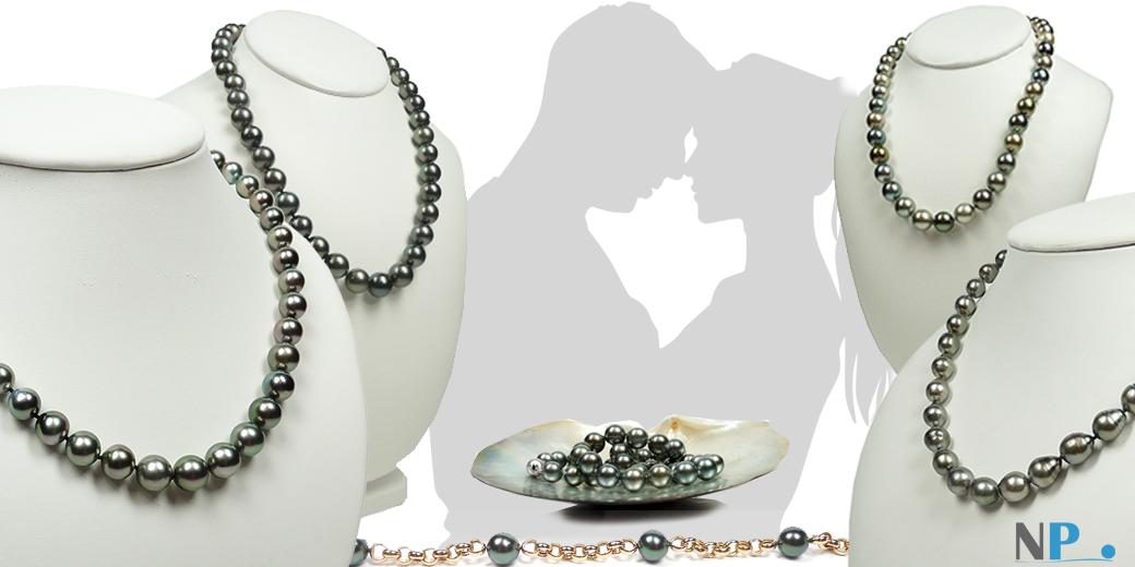 Collier de perles noires