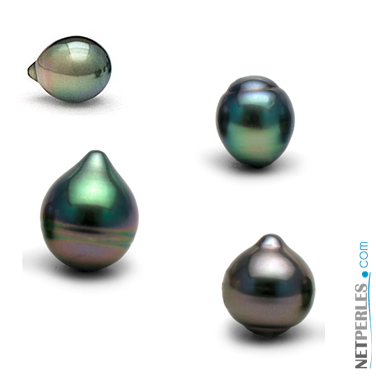 Perles de tahiti en forme de goutte
