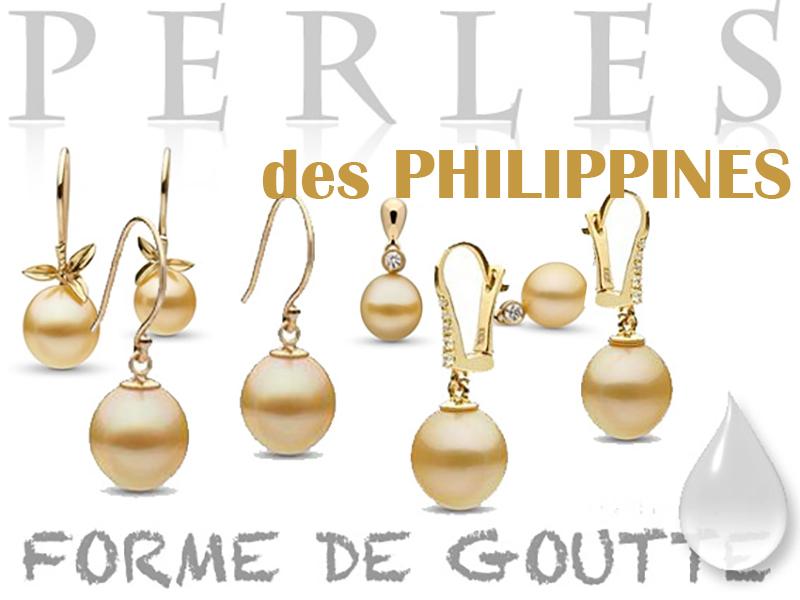 Boucles d'Oreilles de perles des philippines en forme de goutte, dormeuses et pendantes