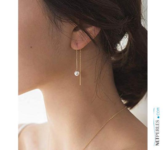 Boucles d'oreilles avec perles de culture