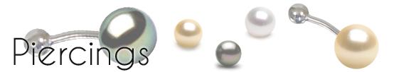 Piercing con perle | perle di coltura | piercing di perle