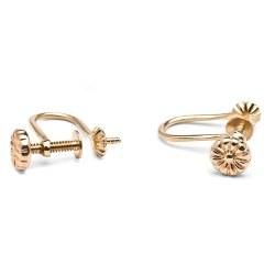 Clips à vis en Or 14 carats pour boucles d'oreilles de perles