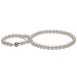 Collier de grandes perles Akoya du Japon de 7,0 à 7,5 mm