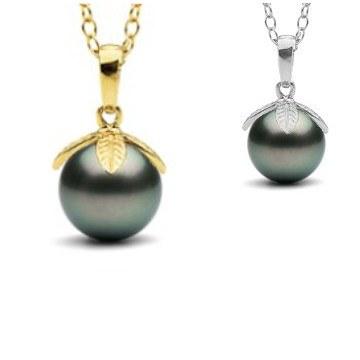 Pendentif Or 18 carats Perle de Tahiti de 9 à 10 mm