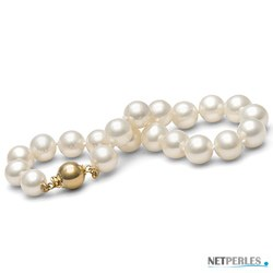 Bracelet de perles d'eau douce Blanches 8 à 9 mm