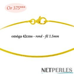 Cable Or Jaune 9 carats 42 cm  Ø: 1,5 mm