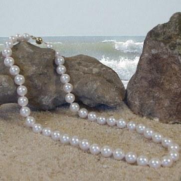 Collier de perles Akoya 9,0 à 9,5 mm - Dimension très rare