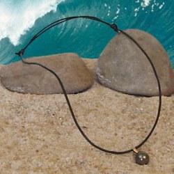 Pendentif Perle Baroque de Tahiti avec belière Or 18 carats