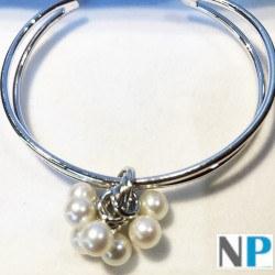 Bracelet en Argent 925 et 7 perles d'Eau Douce 6-7 mm blanches DOUCEHADAMA