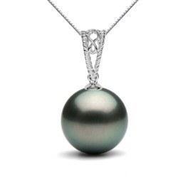 Pendentif en Or 18k avec Perle noire de Tahiti à partir de 9-10 mm