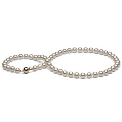 Collier 43 cm de perles Akoya du Japon de 7,0 à 7,5 mm
