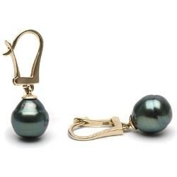 Boucles d'Oreilles en perles baroques de Tahiti