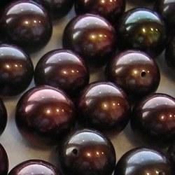Perle de culture d'eau douce couleur chocolat qualité AAA
