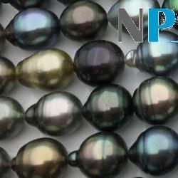 Collier n°8 43 cm de perles Baroques de Tahiti, de 8-11 mm forme goutte