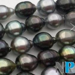 Collier n°3 43 cm de perles Baroques de Tahiti, de 8-11 mm forme goutte