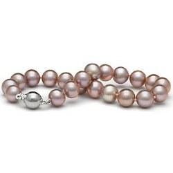 Bracelet de perles d'eau douce Lavandes 8 à 9 mm