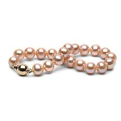 Bracelet de perles d'eau douce Pêches 8 à 9 mm